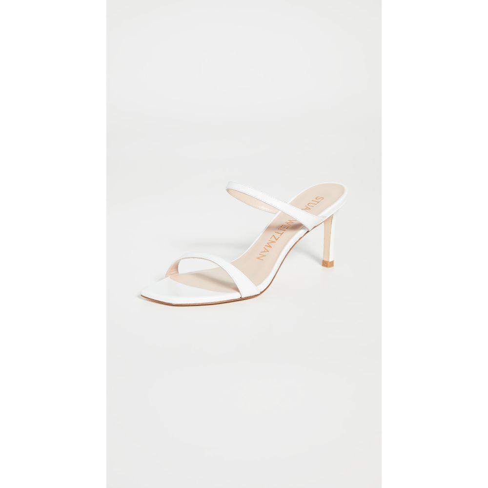 スチュアート ワイツマン Stuart Weitzman レディース サンダル・ミュール シューズ・靴【Aleena Slides 75mm】White