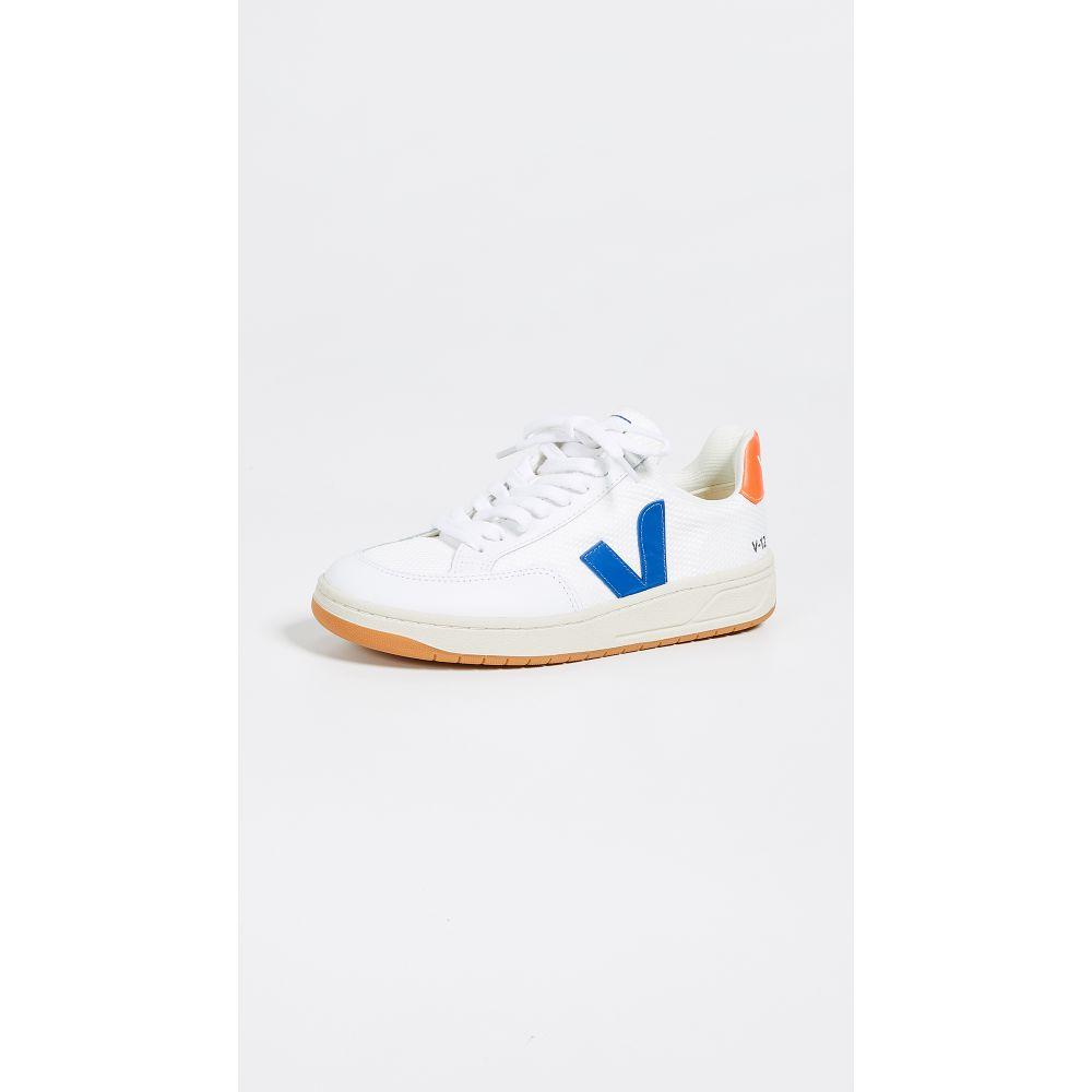 ヴェジャ Veja レディース スニーカー レースアップ シューズ・靴【V-12 Lace Up Sneakers】White/Indigo/Orange/Fluo