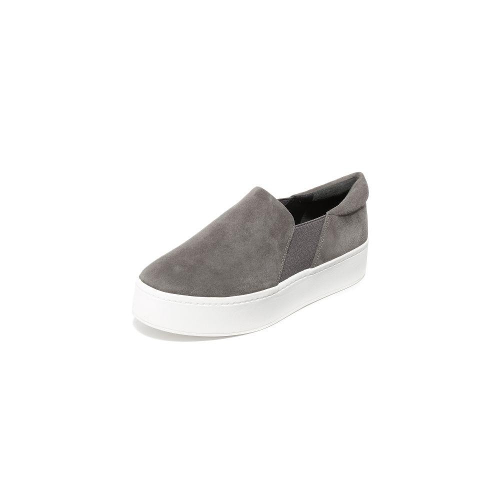 ヴィンス Vince レディース スリッポン・フラット シューズ・靴【Warren Platform Sneakers】Steel