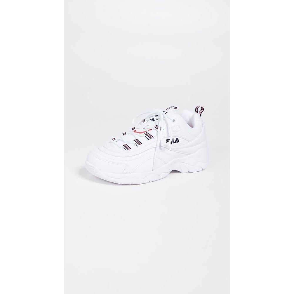フィラ Fila レディース スニーカー シューズ・靴【Ray Sneakers】White/Fila Navy/Fila Red