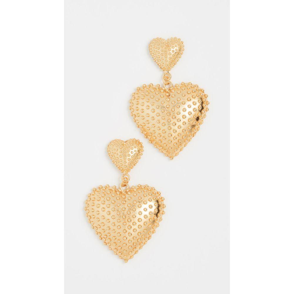 マラリノ Mallarino レディース イヤリング・ピアス ハート ジュエリー・アクセサリー【Marguerite Two Heart Earrings】Gold