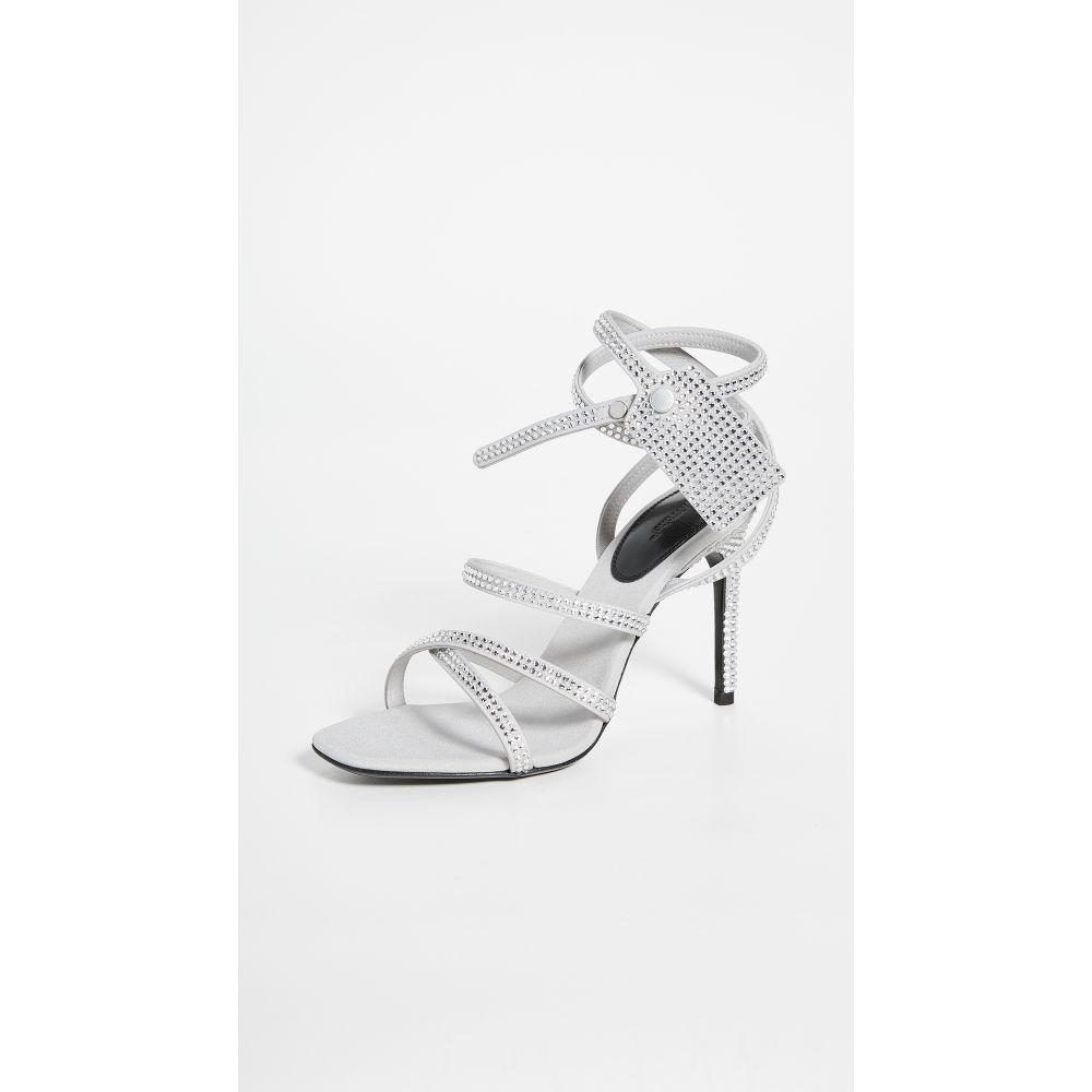 オフホワイト Off-White レディース サンダル・ミュール シューズ・靴【Crystal Satin Zip Tie Sandals】Crystal