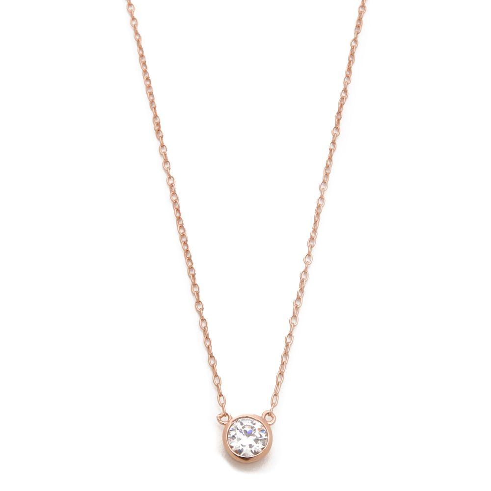 シャシ Shashi レディース ネックレス ジュエリー・アクセサリー【Solitaire Necklace】Rose Gold/Clear