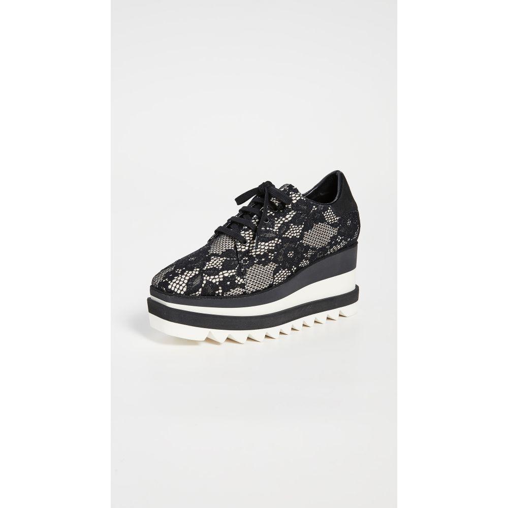 ステラ マッカートニー Stella McCartney レディース スニーカー レースアップ シューズ・靴【Elyse Lace Up Shoes】Ivory/Black