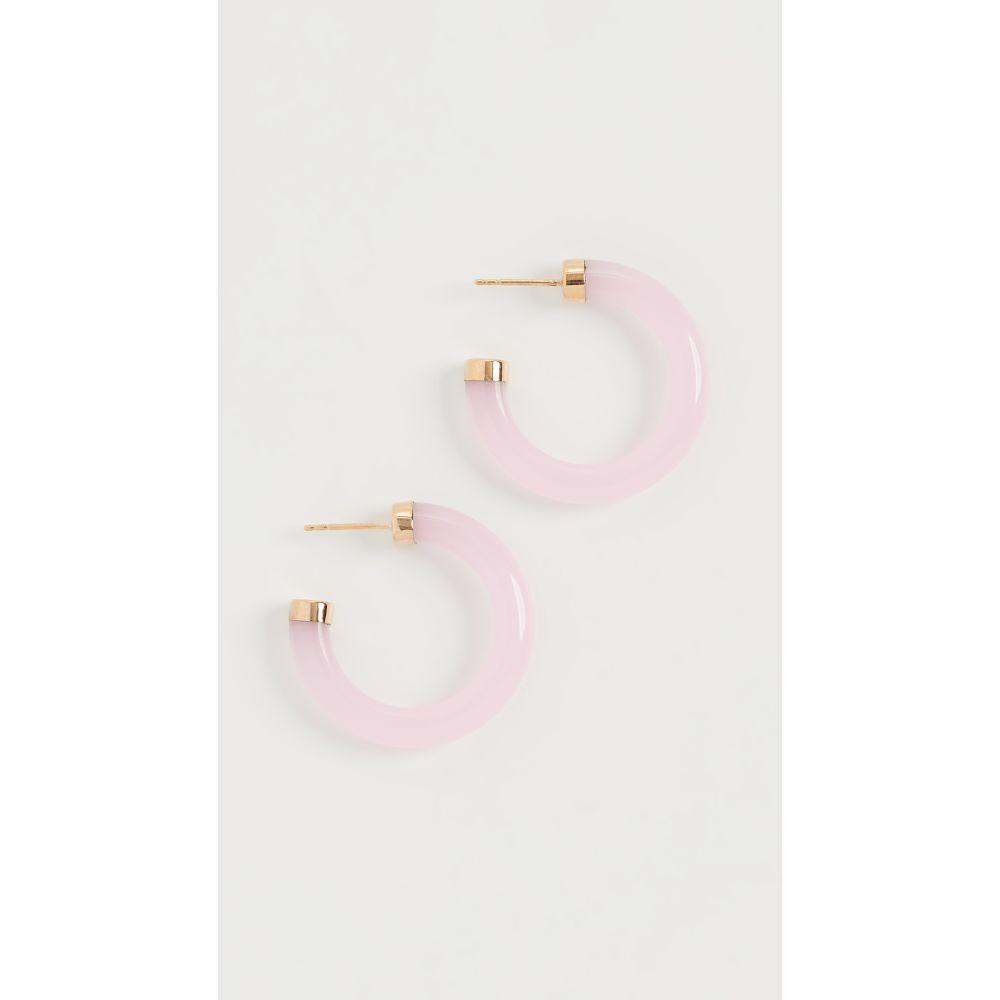 ローレン スチュワート Loren Stewart レディース イヤリング・ピアス ジュエリー・アクセサリー【Stone Hoop Earrings】Rose Quartz