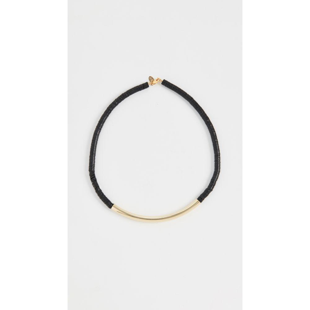 メゾン モニク Maison Monik レディース ネックレス チョーカー ジュエリー・アクセサリー【Black Gold Bar Choker】Black/Gold