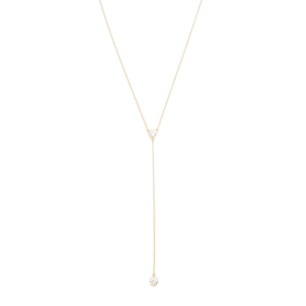 シャシ Shashi レディース ネックレス ラリエット ジュエリー・アクセサリー【Solitaire Lariat Necklace】Gold