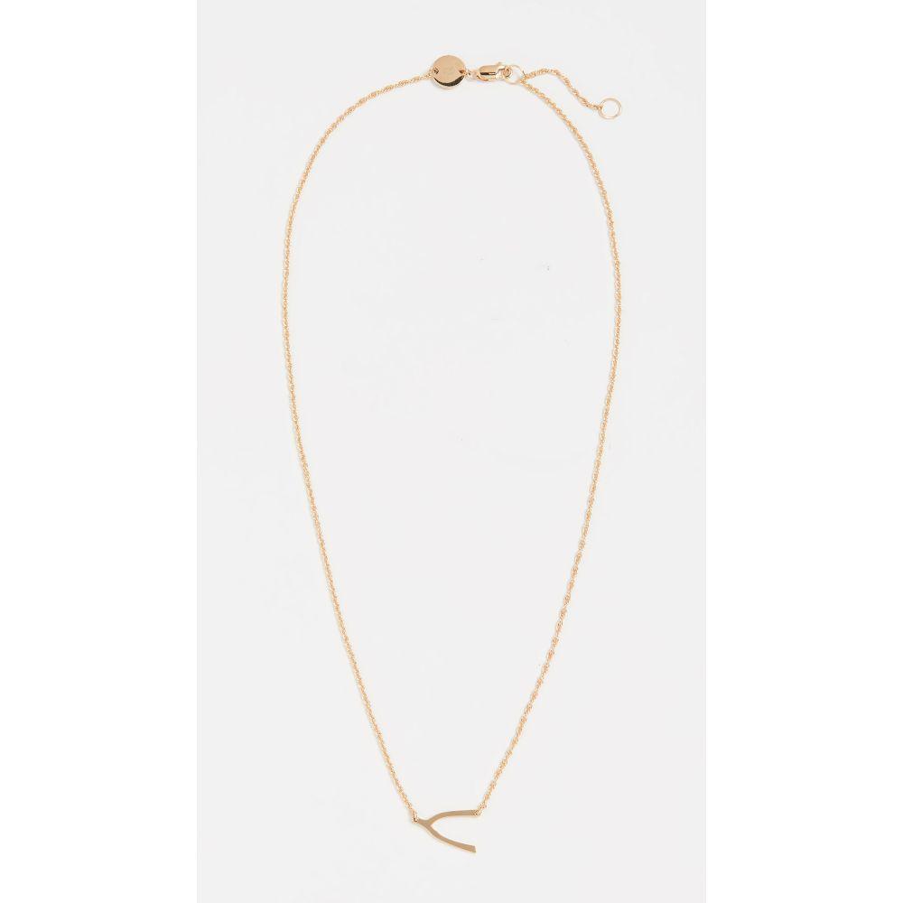 ジェニファーズーナー Jennifer Zeuner Jewelry レディース ネックレス ジュエリー・アクセサリー【Mini Wishbone Necklace】Gold Vermeil