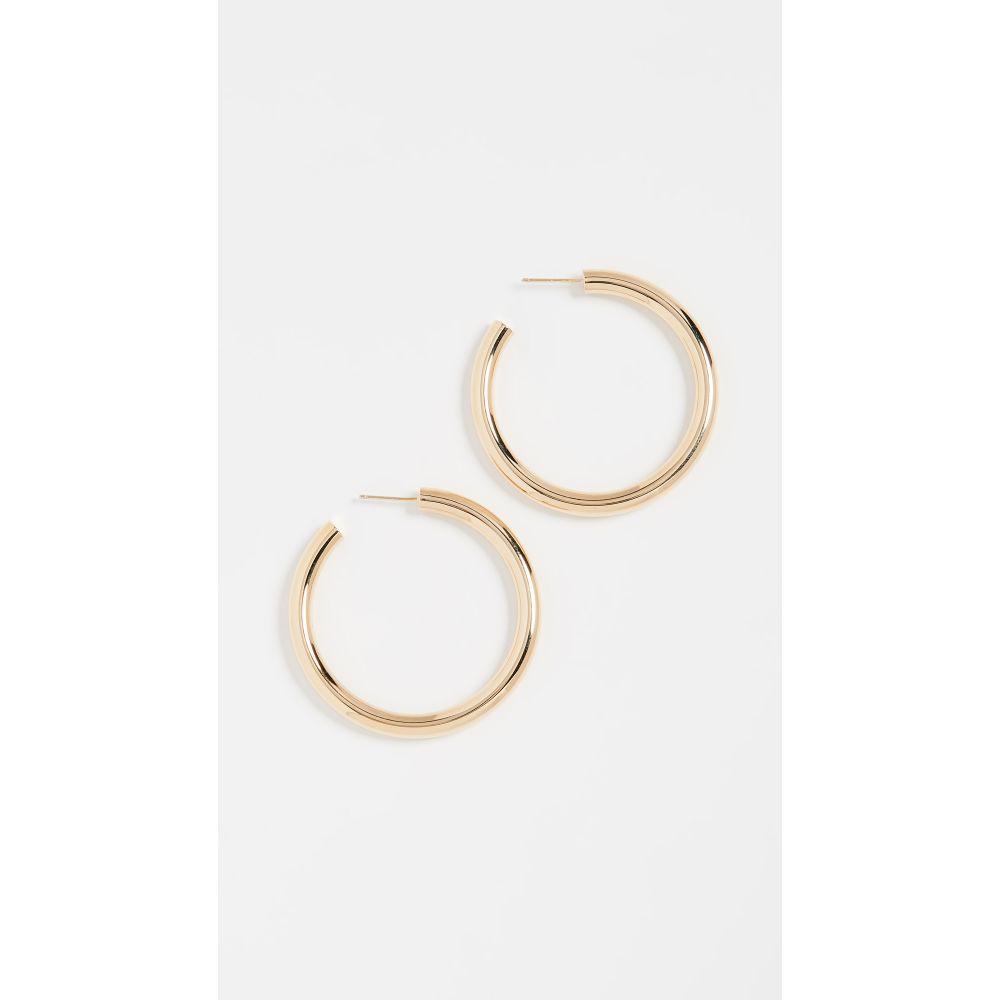 ジェニファーズーナー Jennifer Zeuner Jewelry レディース イヤリング・ピアス ジュエリー・アクセサリー【Lou Medium Hoop Earrings】Yellow Vermeil
