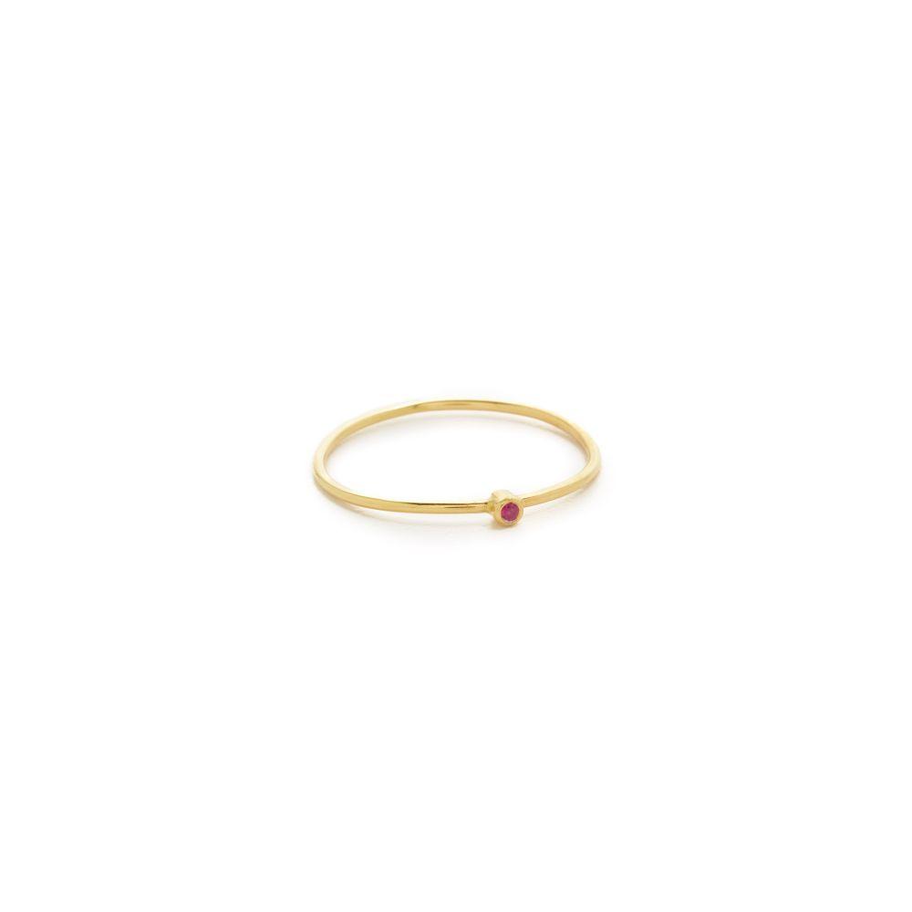 ジェニファーメイヤー Jennifer Meyer Jewelry レディース 指輪・リング ジュエリー・アクセサリー【18k Gold Thin Ruby Ring】Ruby