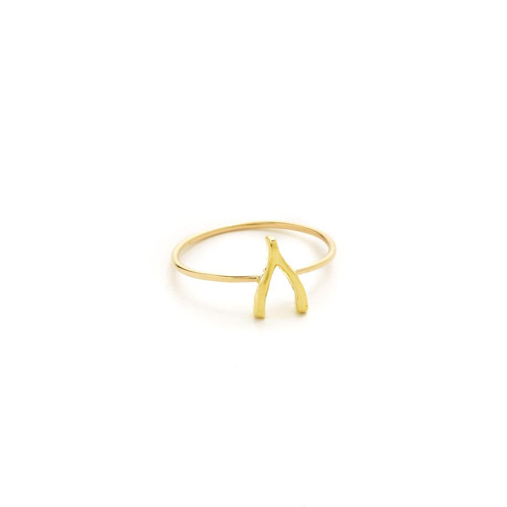 ジェニファーメイヤー Jennifer Meyer Jewelry レディース 指輪・リング ジュエリー・アクセサリー【18k Gold Mini Wishbone Ring】Gold