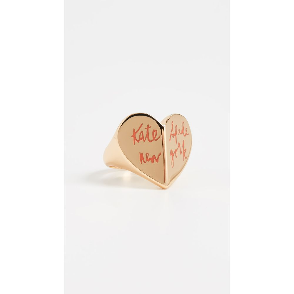 ケイト スペード Kate Spade New York レディース 指輪・リング ハート ジュエリー・アクセサリー【Heritage Spade Heart Ring】Coral