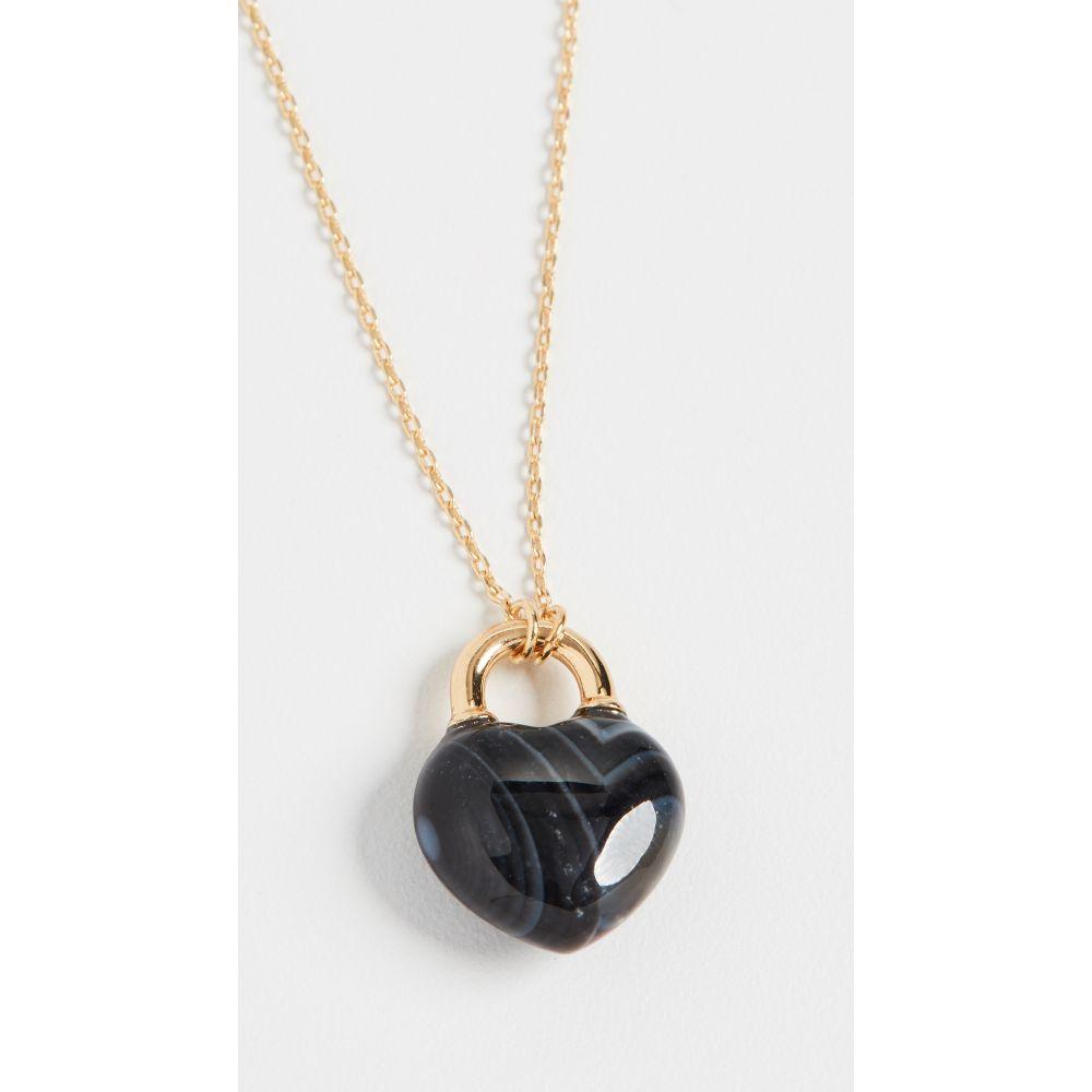 ケイト スペード Kate Spade New York レディース ネックレス ジュエリー・アクセサリー【Stone Lock Mini Pendant Necklace】Black