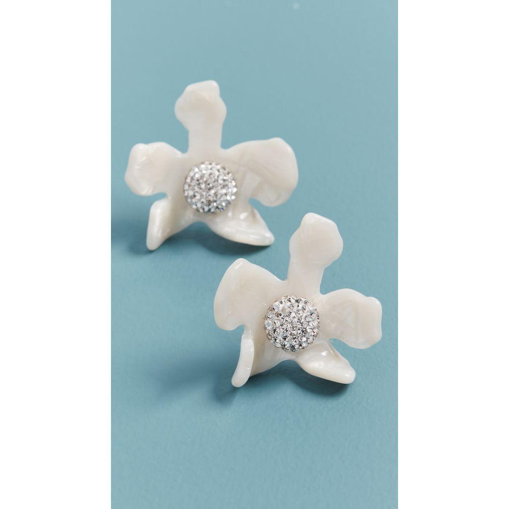 レレ サドイ Lele Sadoughi レディース イヤリング・ピアス ジュエリー・アクセサリー【Crystal Lily Button Earrings】Mother of Pearl