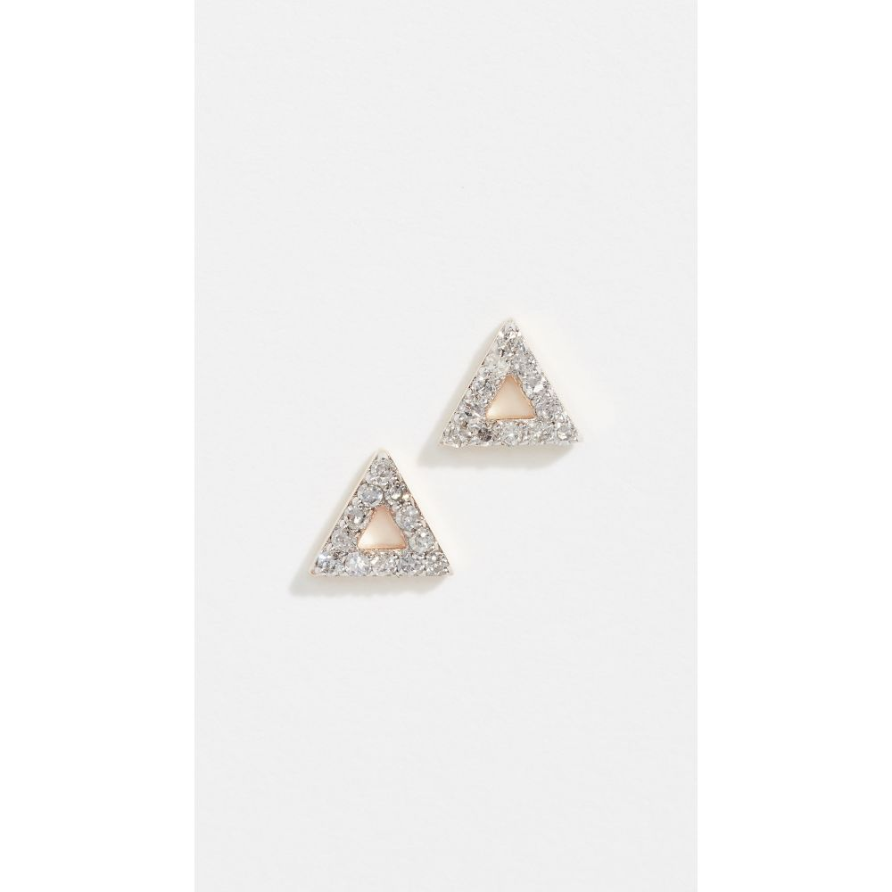 マテオ Mateo レディース イヤリング・ピアス ジュエリー・アクセサリー【14k Mini Diamond Triangle Studs】Yellow Gold