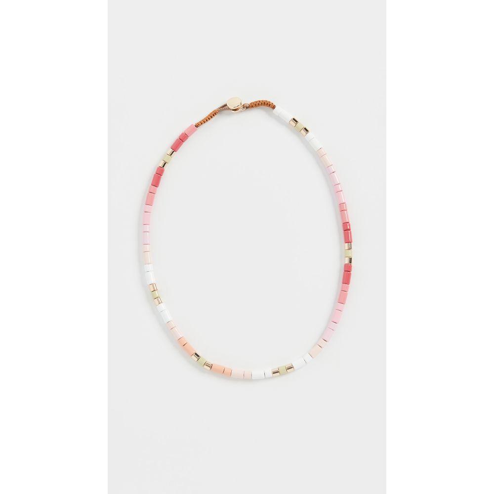 ロクサーヌ アスリーヌ Roxanne Assoulin レディース ネックレス ジュエリー・アクセサリー【Blossom U-Tube Necklace】Pink