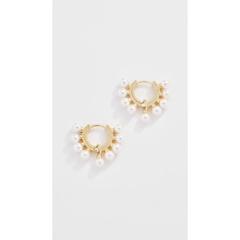 シャシ Shashi レディース イヤリング・ピアス ジュエリー・アクセサリー【Lola Pearl Huggie Earrings】Yellow Gold