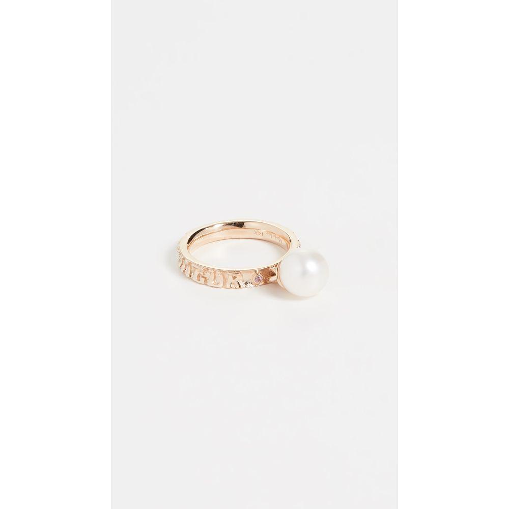 マーロ ラズ Marlo Laz レディース 指輪・リング ジュエリー・アクセサリー【14k Yellow Gold Dancing Freshwater Cultured Pearl Ring】Pink Tourmaline/White/Gold
