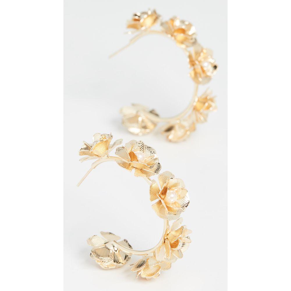 シャシ Shashi レディース イヤリング・ピアス ジュエリー・アクセサリー【Blossom Pearl Hoop Earrings】Gold/Pearl