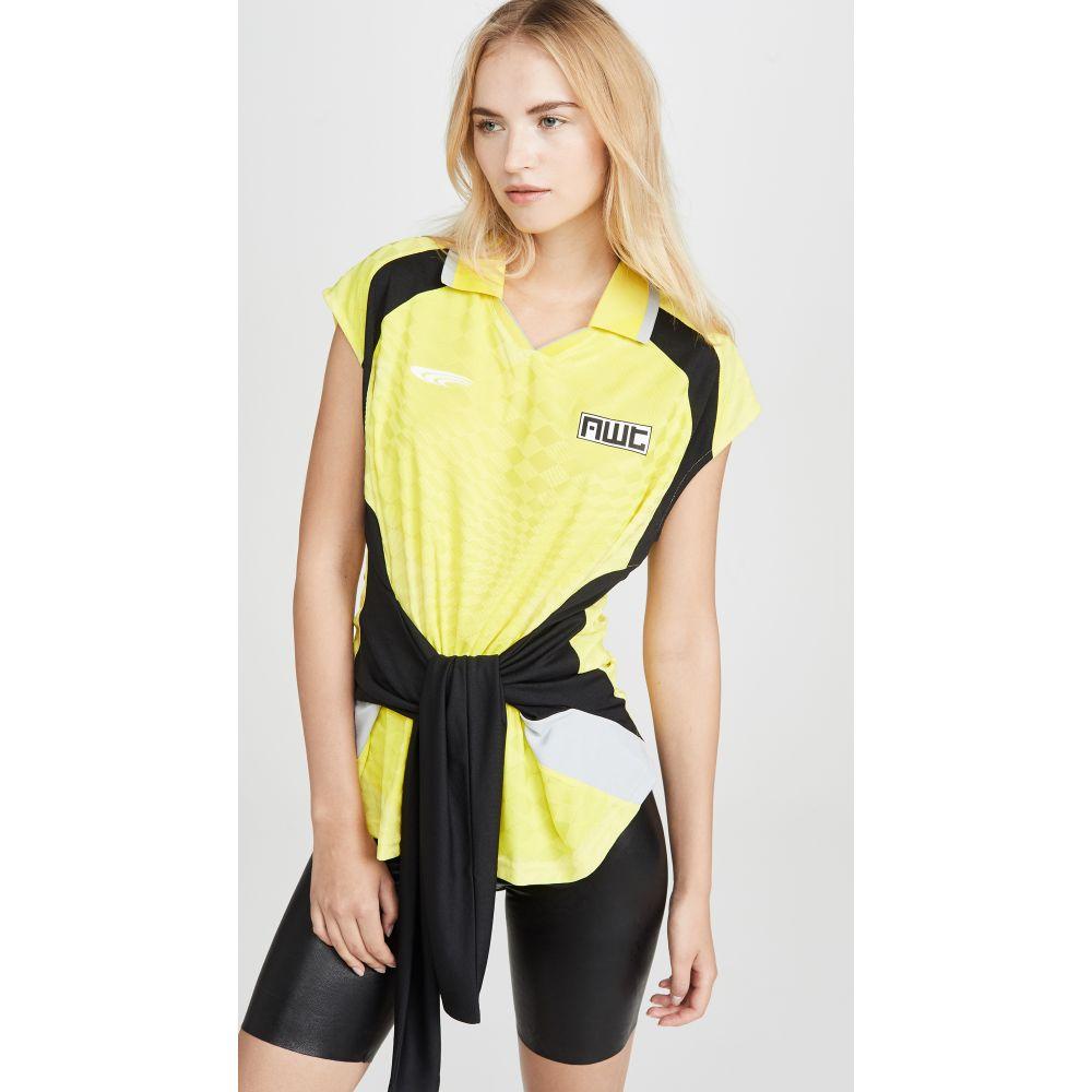 アレキサンダー ワン alexanderwang.t レディース トップス 【Neon Front Tie Top with Collar】Lemon Multi