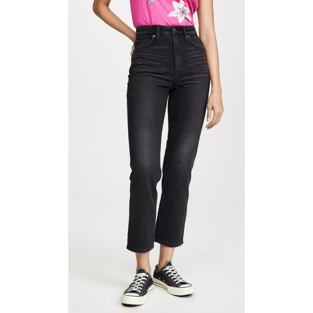 リー Lee Vintage Modern レディース ジーンズ・デニム ボトムス・パンツ【High Rise Straight Leg Ankle Jeans】Washed Black