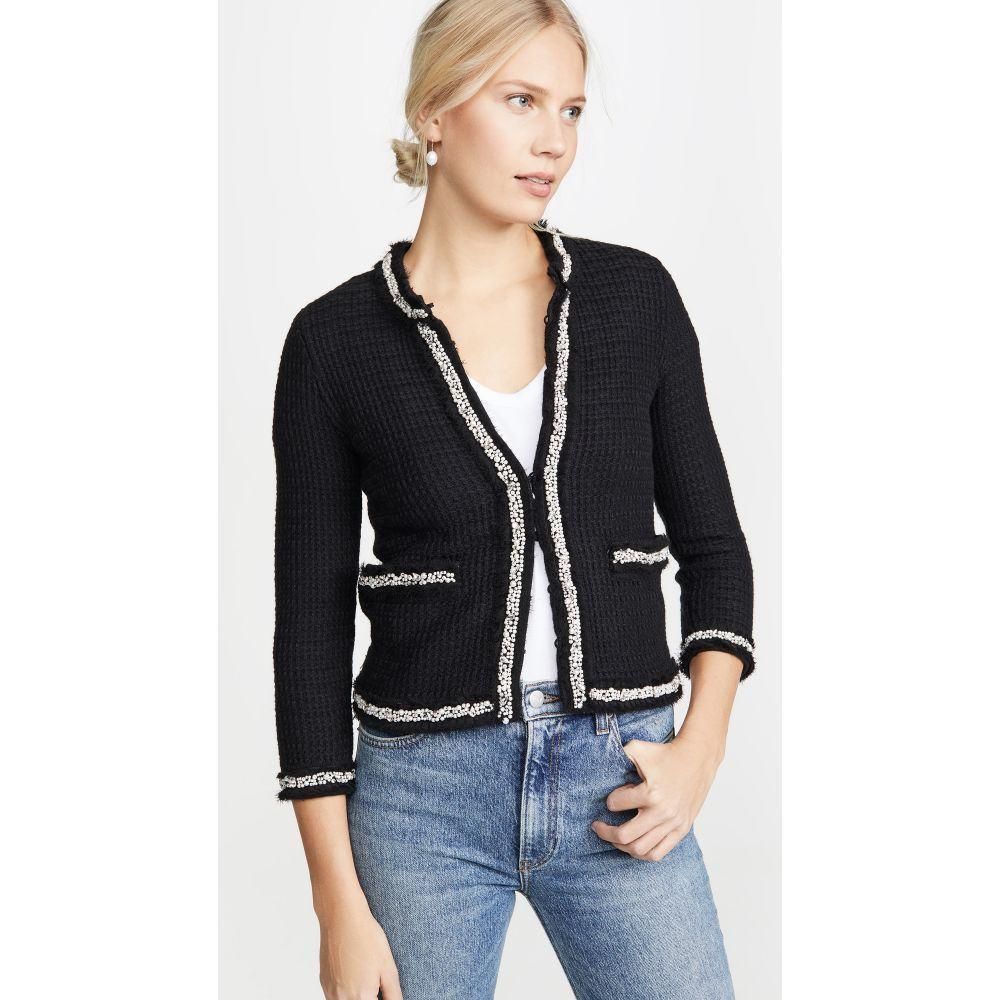 アリス アンド オリビア alice + olivia レディース ジャケット アウター【Georgia Short Embellished Sweater Jacket】Black