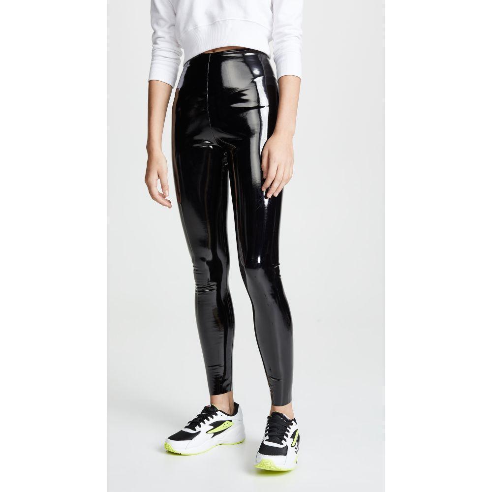 コマンドー Commando レディース ボトムス・パンツ レザーレギンス【Faux Patent Leather Perfect Control Leggings】Black