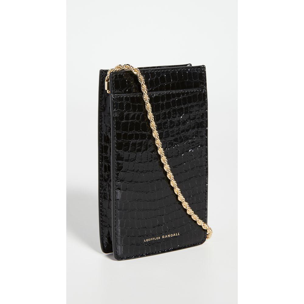 ロフラーランドール Loeffler Randall レディース スマホケース 【Augusta Phone Crossbody Bag】Black