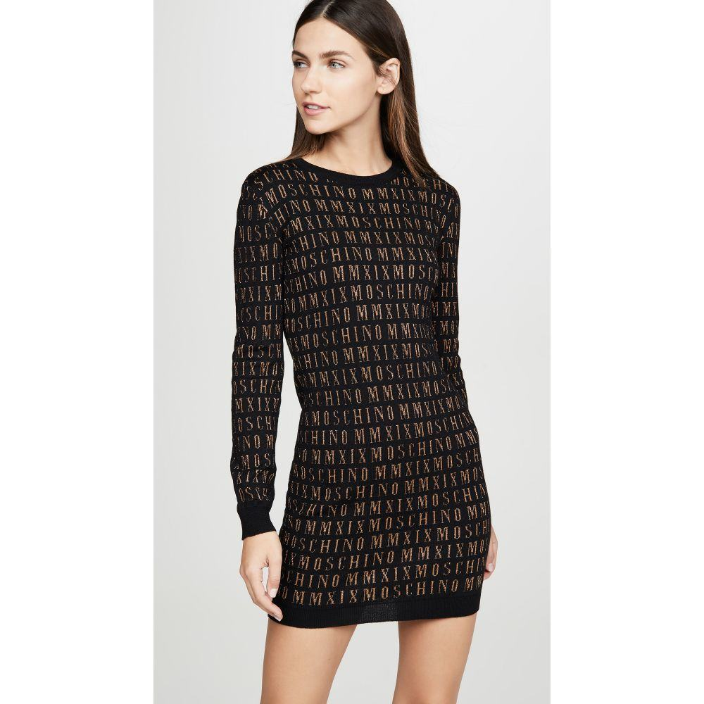 モスキーノ Moschino レディース ワンピース ワンピース・ドレス【Sweater Dress】Fantasy Print Black