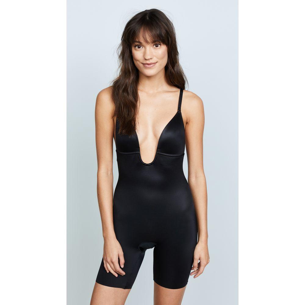 スパンクス SPANX レディース ボディースーツ インナー・下着【Suit Your Fancy Plunge Low-Back Mid-Thigh Bodysuit】Very Black