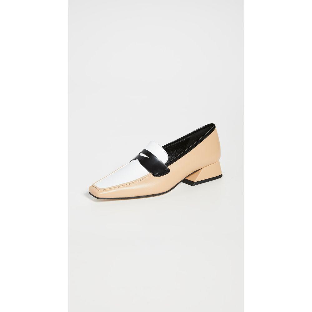 ユルイエ Yuul Yie レディース ローファー・オックスフォード シューズ・靴【Ivy Loafers】Beige/White