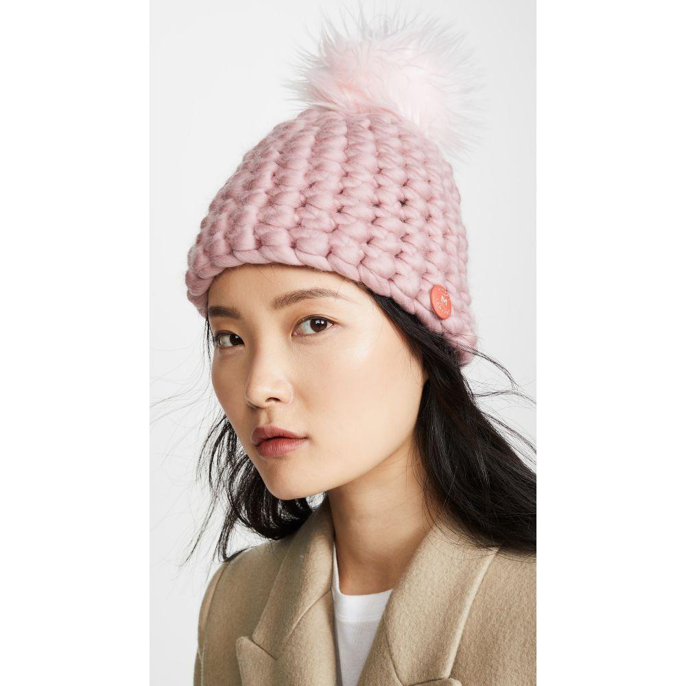 ミーシャランパート Mischa Lampert レディース ニット ビーニー 帽子【Deep Beanie Hat】Dusty Rose
