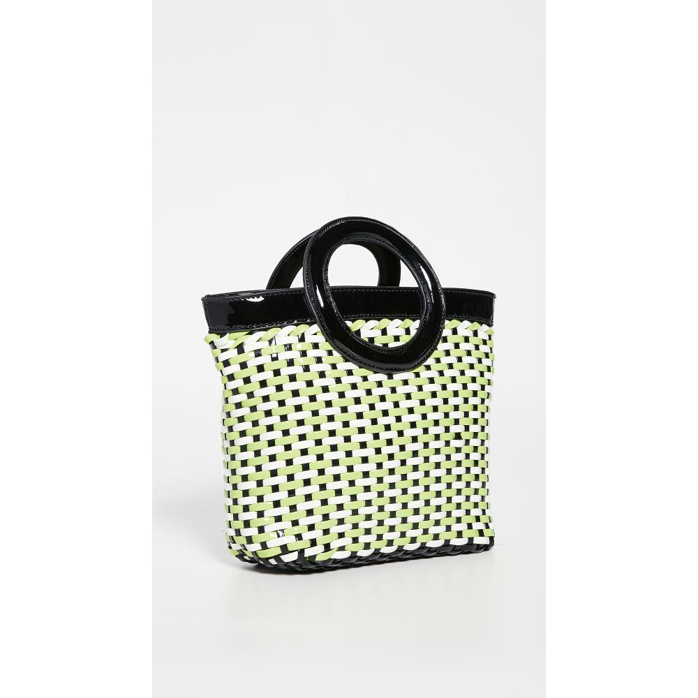 ソリッド&ストライプ Solid & Striped レディース トートバッグ バッグ【Woven Circle Tote Bag】Lime Black