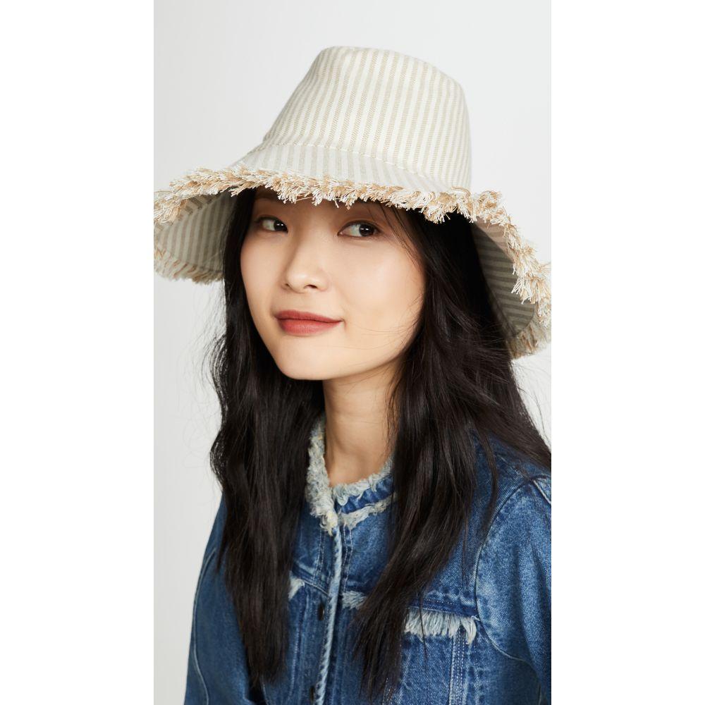 ハットアタック Hat Attack レディース 帽子 【Canvas Packable】Natural Stripe