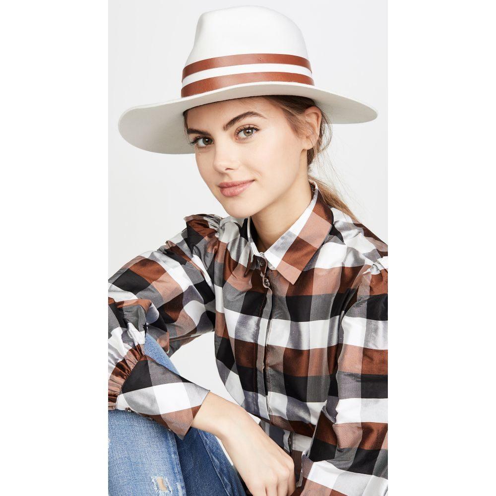 ジャネッサレオン Janessa Leone レディース 帽子 【Frankie Hat】White/Brown