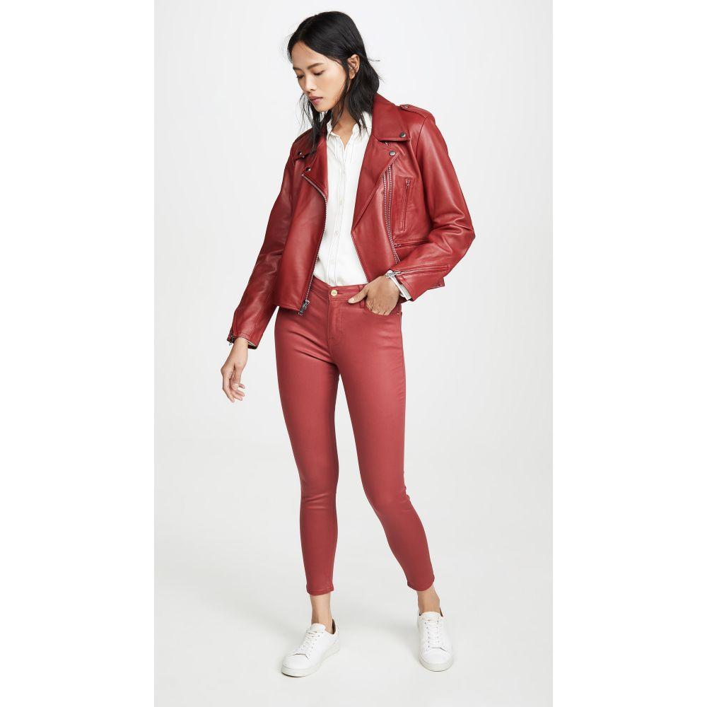 フレーム FRAME レディース ジーンズ・デニム ボトムス・パンツ【Le High Skinny Coated Jeans】Washed Red Coated