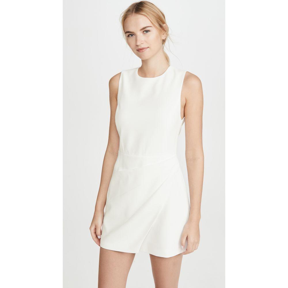 アリス アンド オリビア alice + olivia レディース ワンピース ワンピース・ドレス【Kelsey Asymmetric Drape Dress】Off White