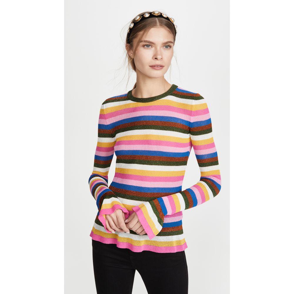 ラダブルジェー La Double J レディース ニット・セーター トップス【Flute Knit Top】Multicolor Pink