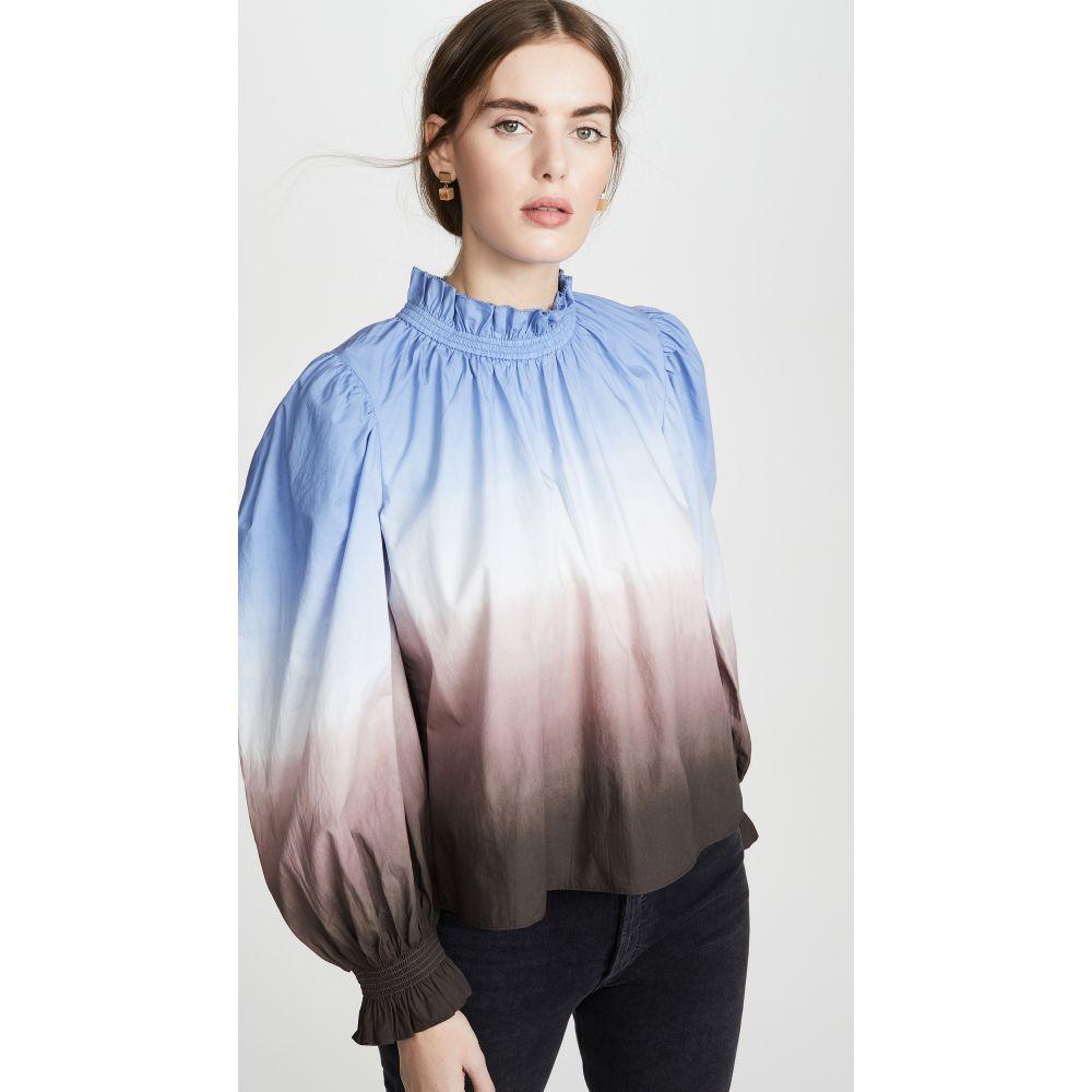 シー Sea レディース ブラウス・シャツ トップス【Ombre Long Sleeve Blouse】Blue