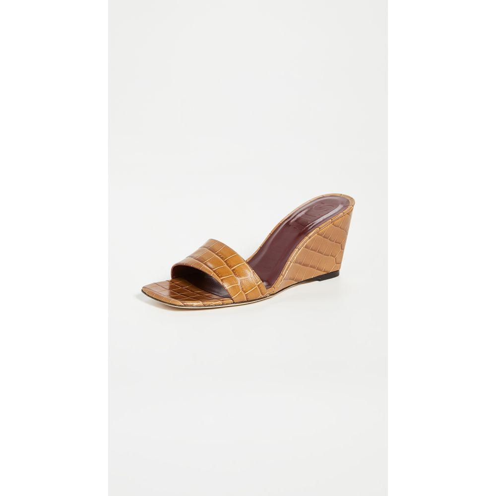 スタウド STAUD レディース サンダル・ミュール ウェッジソール シューズ・靴【Billie Wedge Slides】Brown