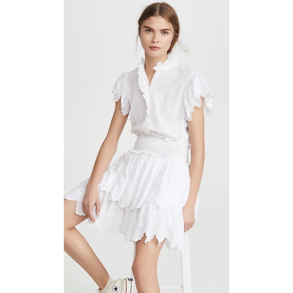 レベッカ テイラー La Vie Rebecca Taylor レディース ワンピース ノースリーブ ワンピース・ドレス【Sleeveless Embroidered Smock Dress】Milk