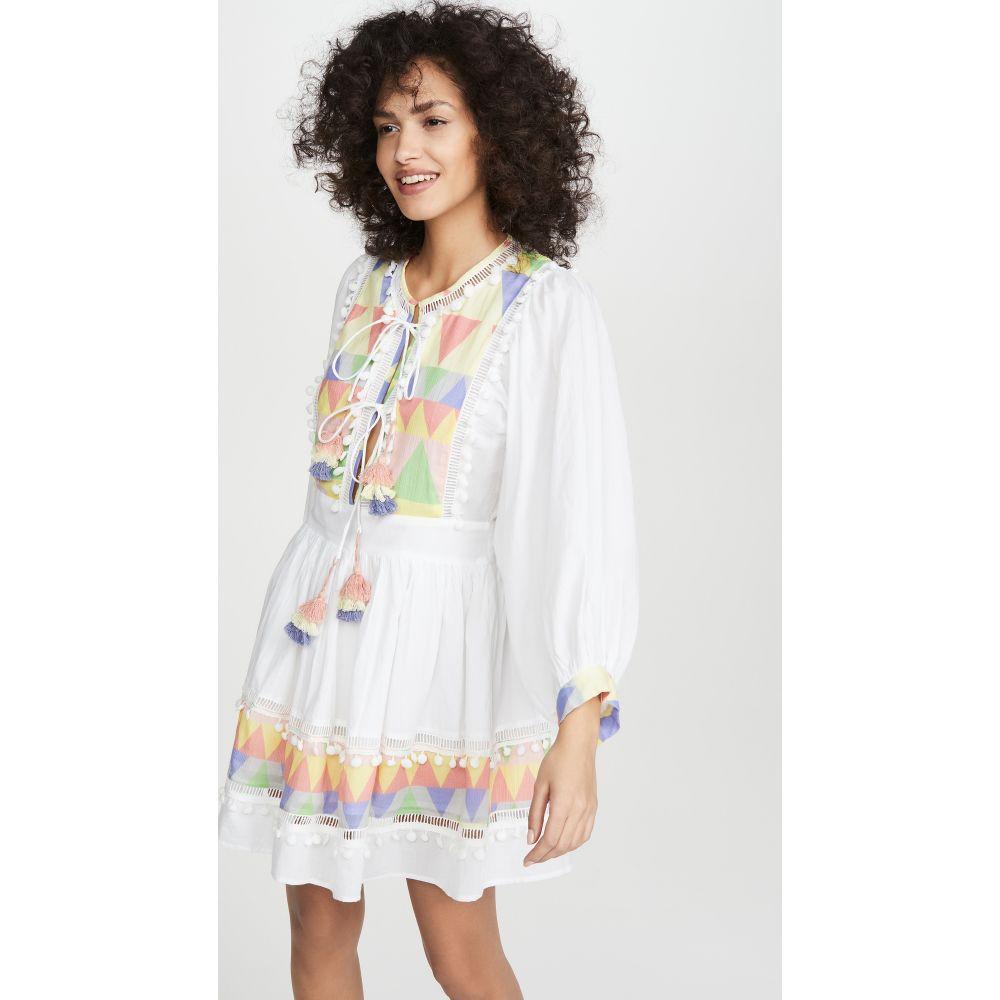 プレイスナショナル Place Nationale レディース ワンピース ミニ丈 ワンピース・ドレス【La Boucher Mini Prairie Dress】Colored Mosaic Print