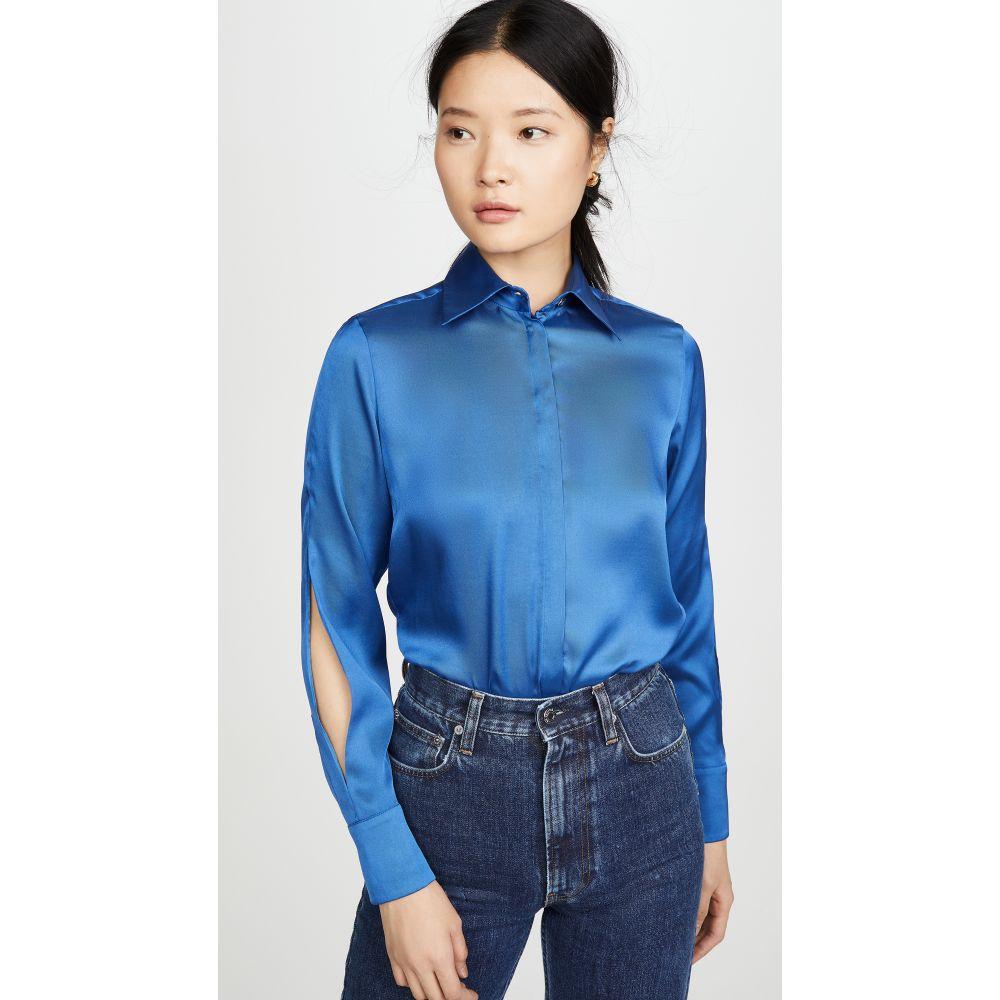 ヴィクトリア ベッカム Victoria Victoria Beckham レディース ブラウス・シャツ トップス【Split Sleeve Shirt】Mid Blue