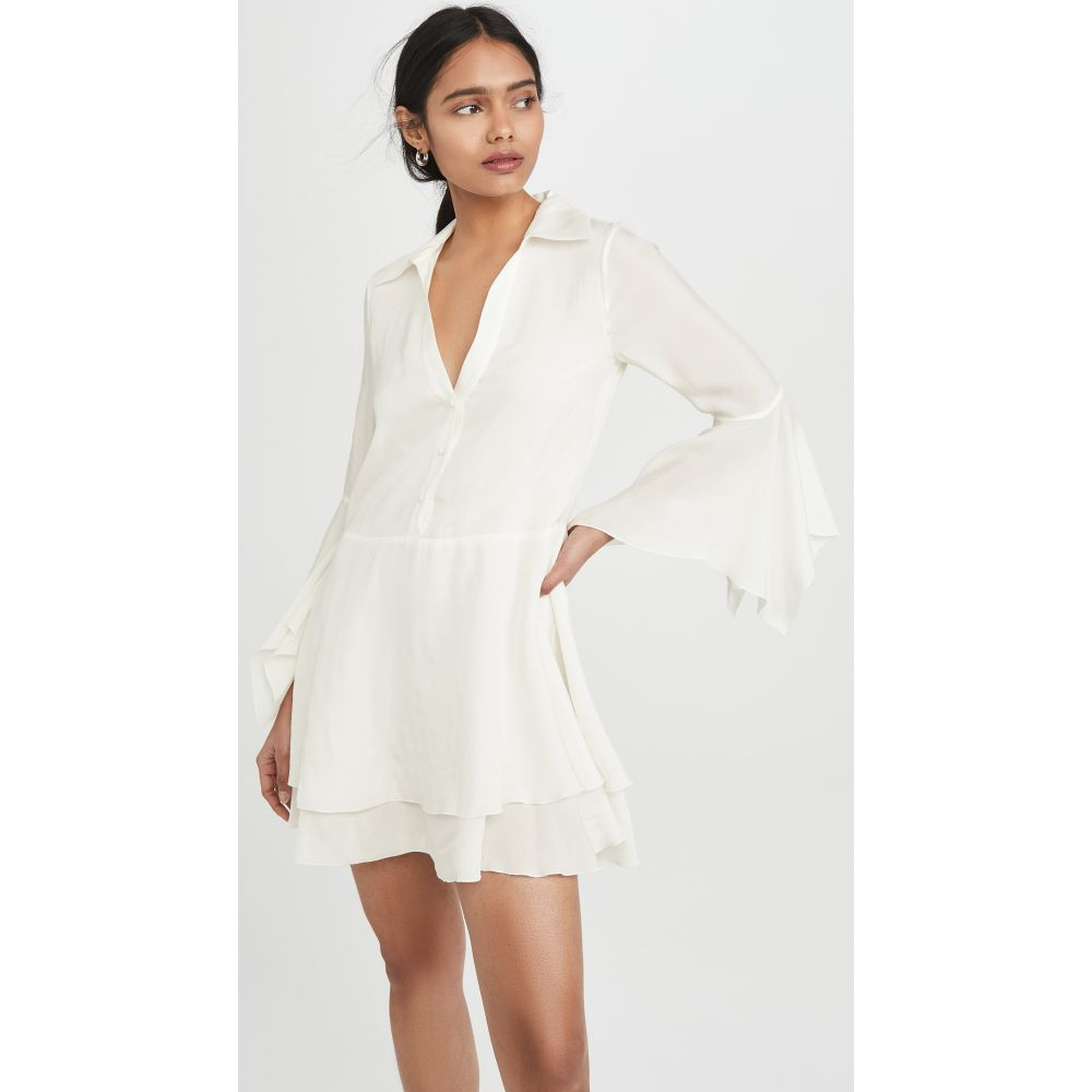 アリス アンド オリビア alice + olivia レディース ワンピース シャツワンピース ワンピース・ドレス【Priscilla Button Down Shirt Dress】Off White