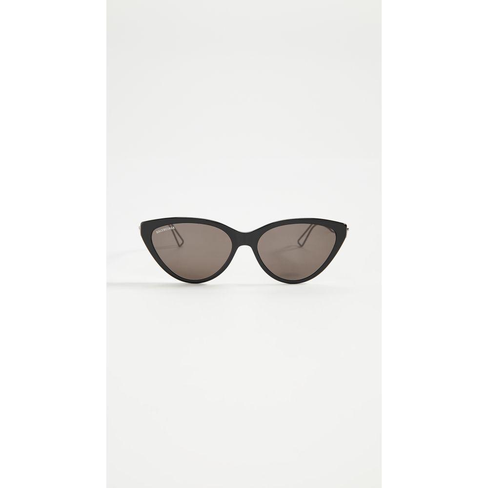 バレンシアガ Balenciaga レディース メガネ・サングラス 【Inception Cat Eye Sunglasses】Black/Grey/Grey