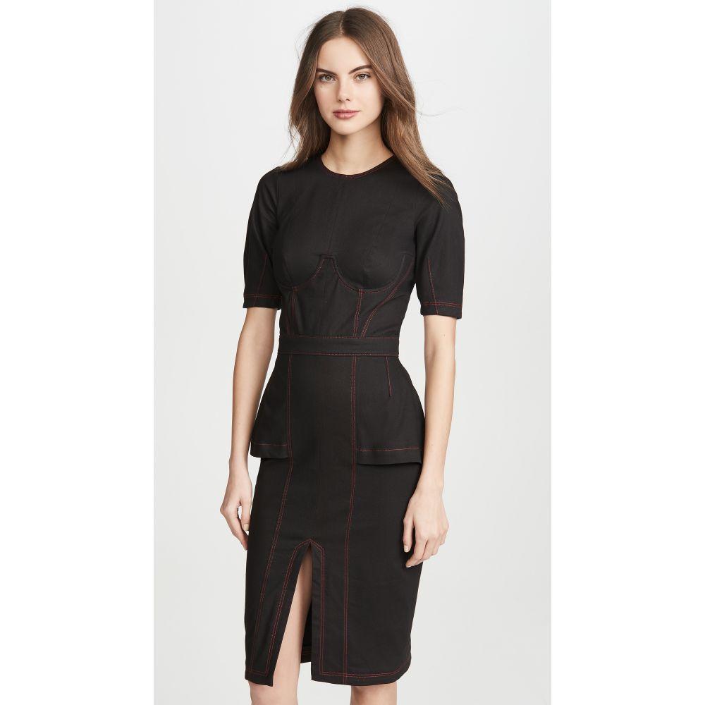 フルール ドゥ マル Fleur du Mal レディース ワンピース ワンピース・ドレス【Topstitch Corset Dress】Black