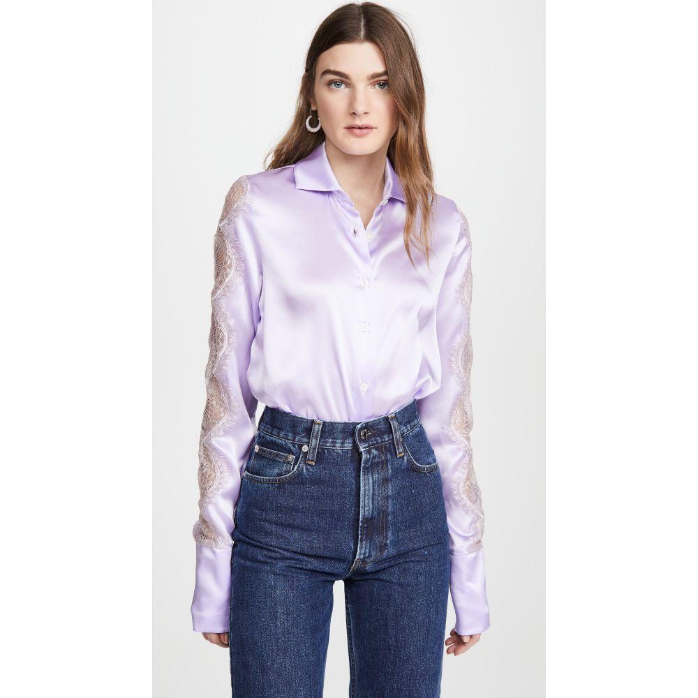 アナイスジョルダン Anais Jourden レディース ブラウス・シャツ トップス【Lilac Silk Satin Shirt】Lilac