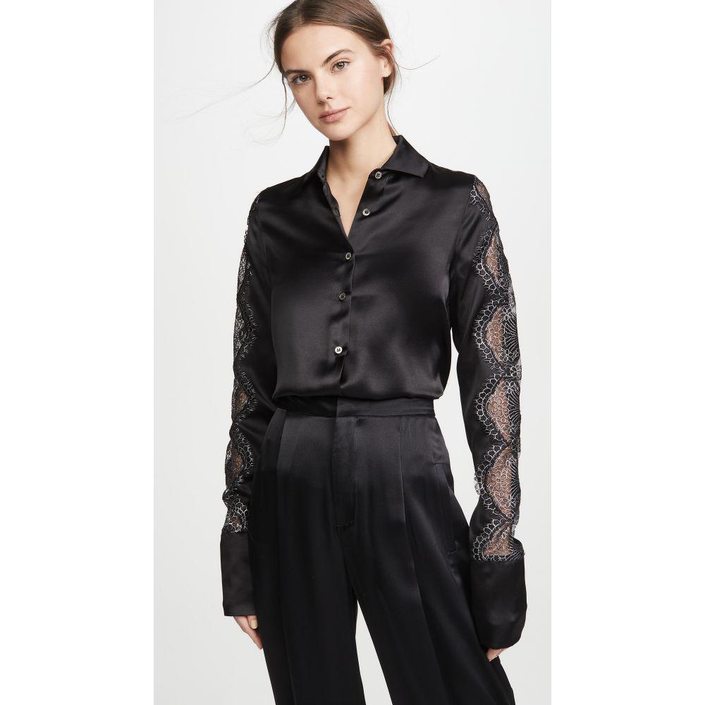 アナイスジョルダン Anais Jourden レディース ブラウス・シャツ トップス【Black Silk Satin Shirt】Black