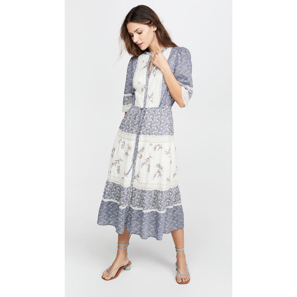 レベッカ テイラー La Vie Rebecca Taylor レディース ワンピース ワンピース・ドレス【Long Sleeve Woodblock Lace Dress】Multi Combo