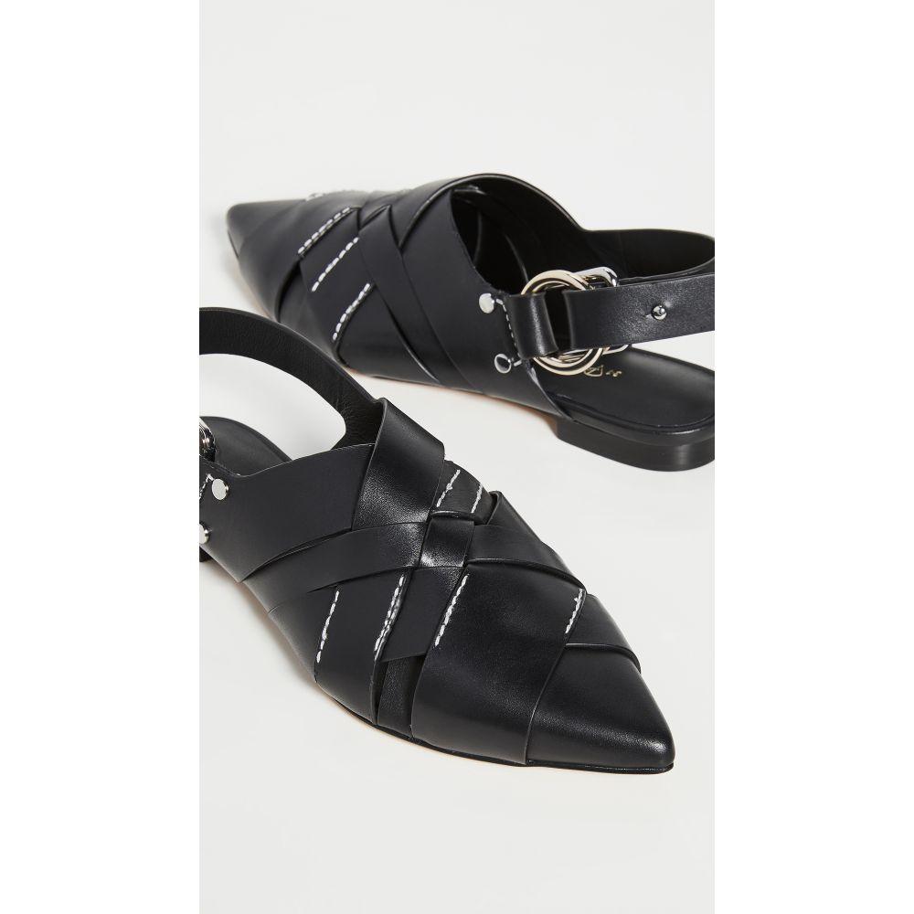 スリーワン フィリップ リム 3.1 Phillip Lim レディース スリッポン・フラット シューズ・靴【Deanna Woven Pointy Flats】Black